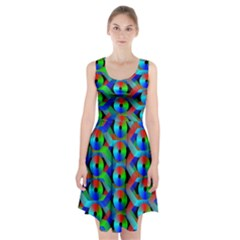 Bee Hive Color Disks Racerback Midi Dress by Amaryn4rt