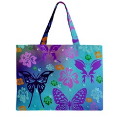 Butterfly Vector Background Zipper Mini Tote Bag by Amaryn4rt