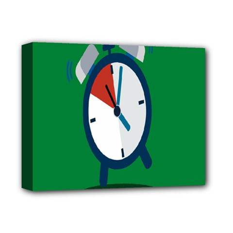 Alarm Clock Weker Time Red Blue Green Deluxe Canvas 14  X 11  by Alisyart