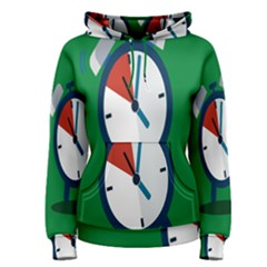Alarm Clock Weker Time Red Blue Green Women s Pullover Hoodie