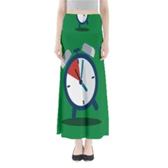Alarm Clock Weker Time Red Blue Green Maxi Skirts by Alisyart