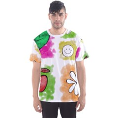 A Set Of Watercolour Icons Men s Sport Mesh Tee