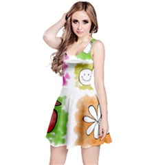 A Set Of Watercolour Icons Reversible Sleeveless Dress