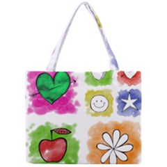 A Set Of Watercolour Icons Mini Tote Bag