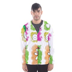 A Set Of Watercolour Icons Hooded Wind Breaker (Men)