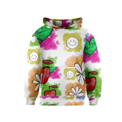 A Set Of Watercolour Icons Kids  Pullover Hoodie