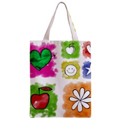 A Set Of Watercolour Icons Zipper Classic Tote Bag