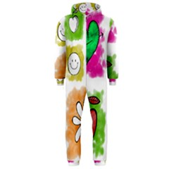 A Set Of Watercolour Icons Hooded Jumpsuit (Men)