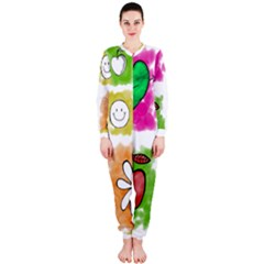 A Set Of Watercolour Icons OnePiece Jumpsuit (Ladies)