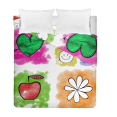 A Set Of Watercolour Icons Duvet Cover Double Side (Full/ Double Size)