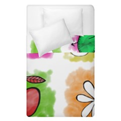 A Set Of Watercolour Icons Duvet Cover Double Side (Single Size)