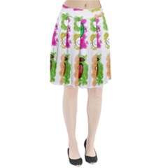 A Set Of Watercolour Icons Pleated Skirt