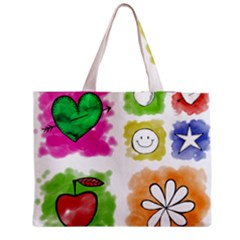 A Set Of Watercolour Icons Medium Tote Bag by Amaryn4rt