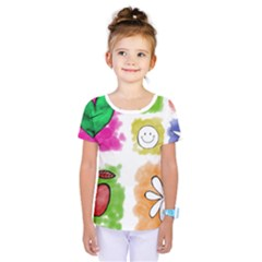 A Set Of Watercolour Icons Kids  One Piece Tee