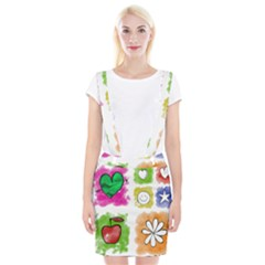 A Set Of Watercolour Icons Suspender Skirt