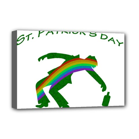 St  Patricks Deluxe Canvas 18  X 12   by Valentinaart