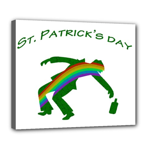 St  Patricks Deluxe Canvas 24  X 20   by Valentinaart