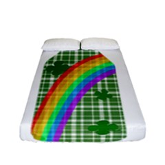 St  Patricks Day   Bottle Fitted Sheet (full/ Double Size) by Valentinaart