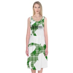 St  Patrick s Day Midi Sleeveless Dress