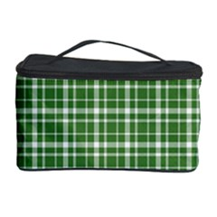 St  Patricks Day Plaid Pattern Cosmetic Storage Case by Valentinaart