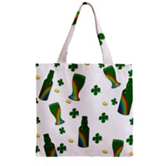 St  Patricks Day  Zipper Grocery Tote Bag by Valentinaart