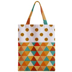 Golden Dots And Triangles Patern Zipper Classic Tote Bag by TastefulDesigns