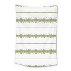 Ethnic Floral Stripes Small Tapestry