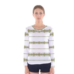 Ethnic Floral Stripes Women s Long Sleeve Tee by dflcprintsclothing