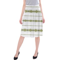 Ethnic Floral Stripes Midi Beach Skirt by dflcprintsclothing
