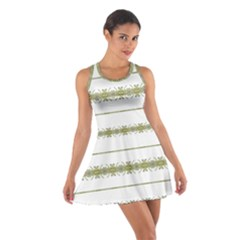 Ethnic Floral Stripes Cotton Racerback Dress by dflcprintsclothing