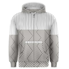 Lines And Stripes Patterns Men s Zipper Hoodie by TastefulDesigns