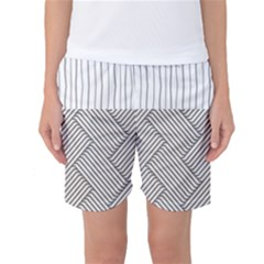 Lines And Stripes Patterns Women s Basketball Shorts by TastefulDesigns