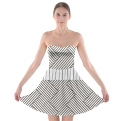 Lines And Stripes Patterns Strapless Bra Top Dress by TastefulDesigns