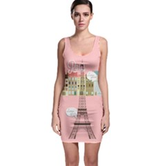 1507 Pink Bodycon Dress by PattyVilleDesigns