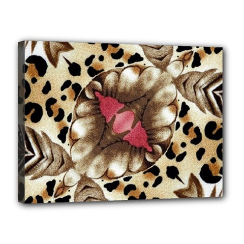 Animal Tissue And Flowers Canvas 16  X 12  by Amaryn4rt