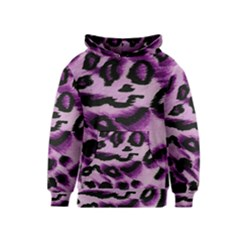 Background Fabric Animal Motifs Lilac Kids  Pullover Hoodie by Amaryn4rt