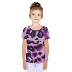 Background Fabric Animal Motifs Lilac Kids  One Piece Tee