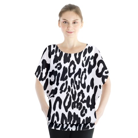 Black And White Leopard Skin Blouse by Amaryn4rt