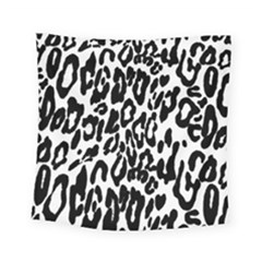 Black And White Leopard Skin Square Tapestry (small) by Amaryn4rt
