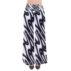 Black And White Wave Abstract Pants by Amaryn4rt