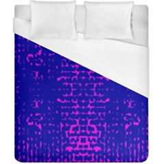 Blue And Pink Pixel Pattern Duvet Cover (california King Size) by Amaryn4rt