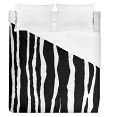Zebra Background Pattern Duvet Cover (queen Size) by Amaryn4rt