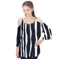 Zebra Background Pattern Flutter Tees by Amaryn4rt