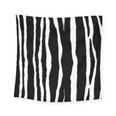 Zebra Background Pattern Square Tapestry (small)