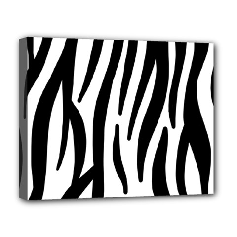 Seamless Zebra A Completely Zebra Skin Background Pattern Deluxe Canvas 20  X 16   by Amaryn4rt