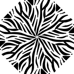 Seamless Zebra A Completely Zebra Skin Background Pattern Hook Handle Umbrellas (small) by Amaryn4rt