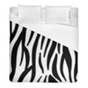 Seamless Zebra A Completely Zebra Skin Background Pattern Duvet Cover (Full/ Double Size) View1