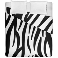Seamless Zebra A Completely Zebra Skin Background Pattern Duvet Cover Double Side (california King Size) by Amaryn4rt
