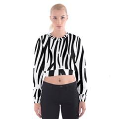 Seamless Zebra A Completely Zebra Skin Background Pattern Women s Cropped Sweatshirt by Amaryn4rt
