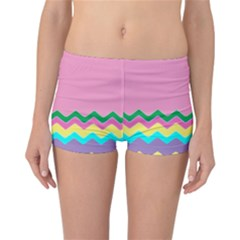 Easter Chevron Pattern Stripes Reversible Bikini Bottoms